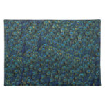 Vintage Pretty Peacock Bird Feathers Wallpaper Placemats