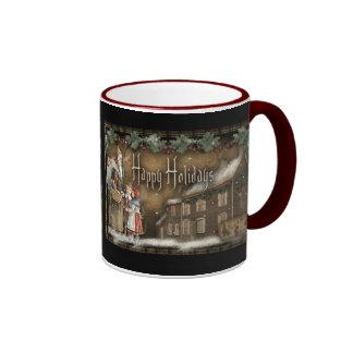 Vintage Primitive Christmas Mug