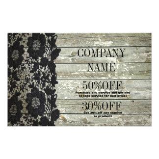 vintage primitive rustic western barn wood lace flyer
