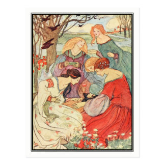 Vintage Prince and Maidens by Florence Harrison Postcard
