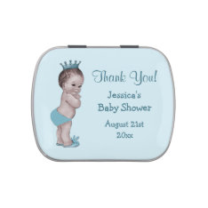 Vintage Prince Boys Baby Shower Thank You Favor Jelly Belly Candy Tins at Zazzle