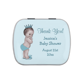 Vintage Prince Boys Baby Shower Thank You Favor Jelly Belly Tin