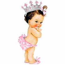 Vintage Princess Baby Girl Shower Cutout