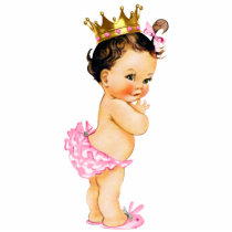 Vintage Princess Baby Girl Shower Statuette