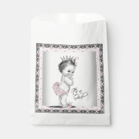 Vintage Princess Baby Shower Favor Bag