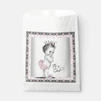 Vintage Princess Baby Shower Favor Bag
