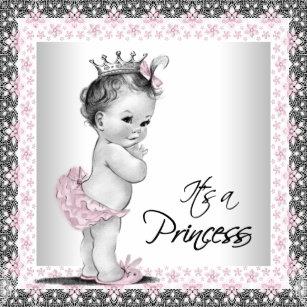 Vintage princess baby shower invitations announcements zazzle vintage princess baby shower invitation filmwisefo