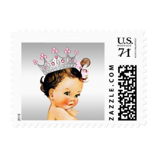 Vintage Princess Baby Shower Postage
