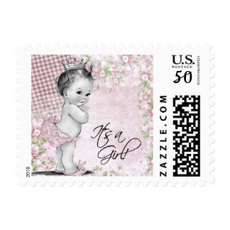 Vintage Princess Baby Shower Postage Stamp