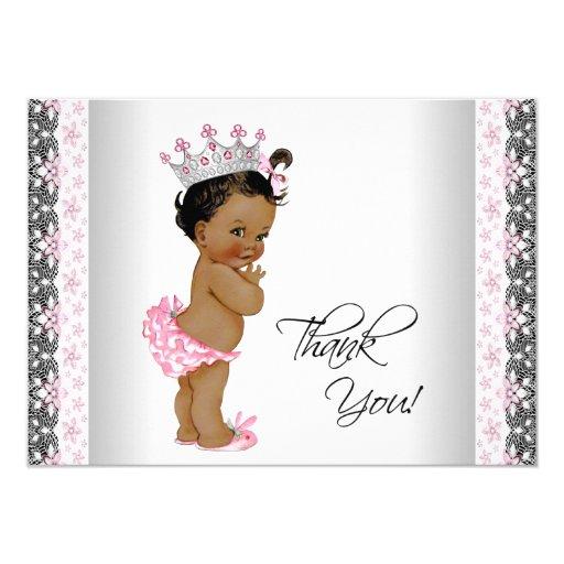 Vintage Baby Shower Thank You Cards: Vintage Princess Baby Shower Thank You Card