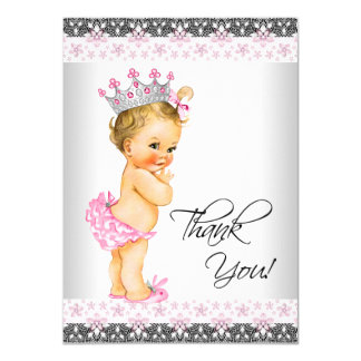 Vintage Princess Baby Shower Thank You Card