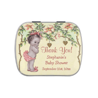 Vintage Princess Baby Shower Thank You Favor Candy Tin