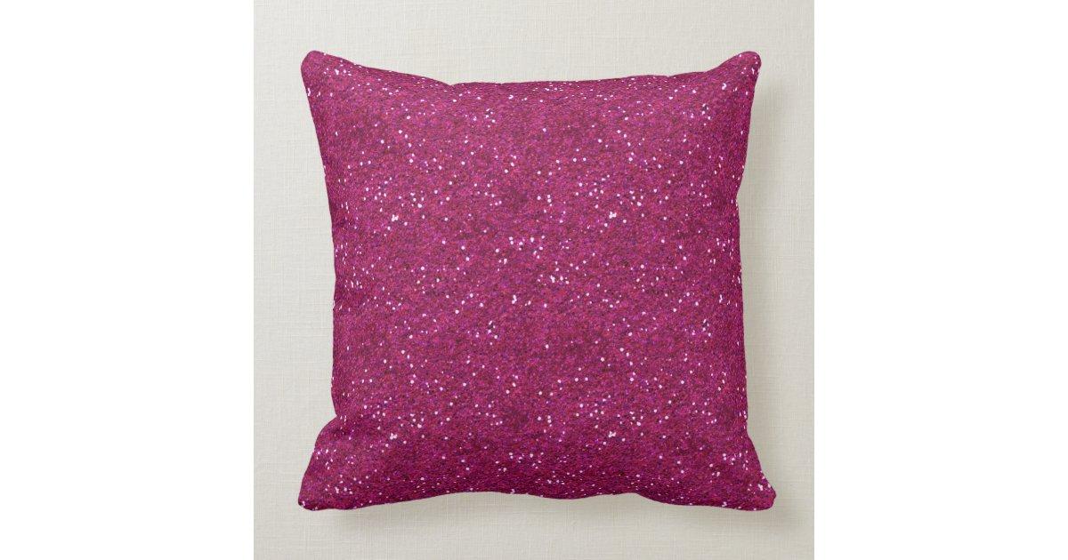 Throw Pillows With Sparkle : Vintage Princess Crown on Hot Pink Glitter Sparkle Throw Pillow Zazzle