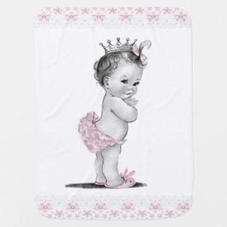 Vintage Princess Receiving Blanket