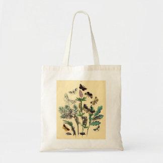 Vintage Print - Bohemian Moths & Butterflies Canvas Bags