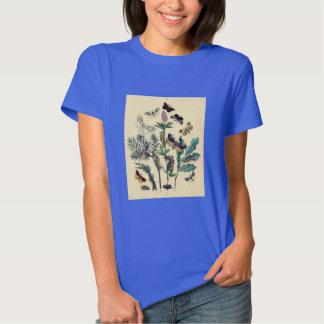 Vintage Print - Bohemian Moths & Butterflies Tee Shirt