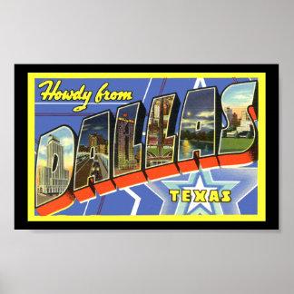 Vintage Print Greetings Dallas Texas
