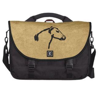 Vintage Print Horse Profile Laptop Bag