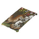 Vintage Print: Kittens playing in the garden Cover For The iPad Mini