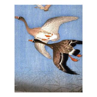 Vintage Print of Flying Geese Letterhead