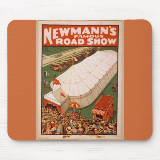 Vintage Print Of Newmann's famous Road Show Mouse Pad