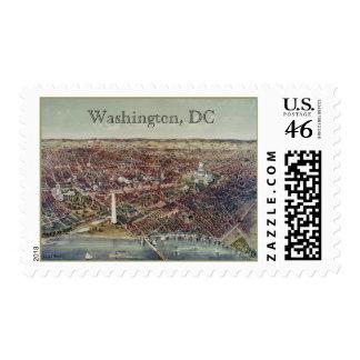 Vintage Print of Washington, D.C. Stamp