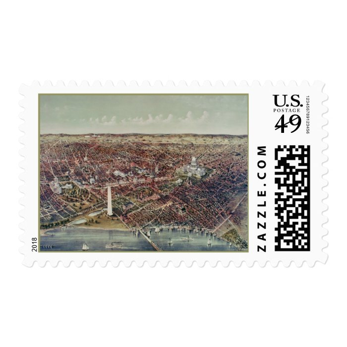 Vintage Print of Washington, D.C. Postage