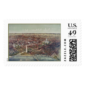 Vintage Print of Washington, D.C. Postage Stamp