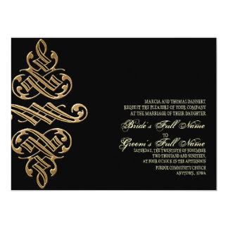 Vintage Printers Ornament Goldl - Wedding Invites