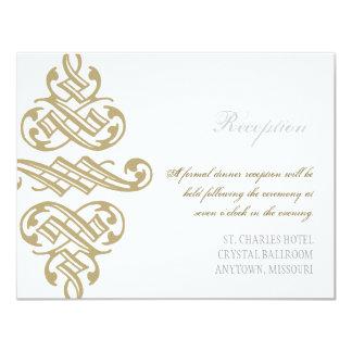 Vintage Printers Ornament Swirl Reception Invite