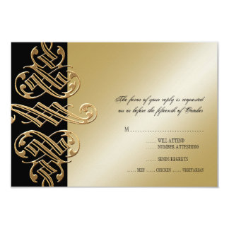 Vintage Printers Ornament Swirl RSVP Response Card Personalized Announcements