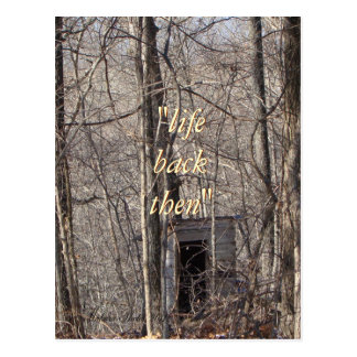 Vintage Privy in the woods-any occasion Postcard