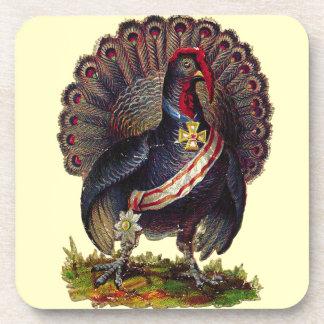 Vintage Prize Turkey Art Coaster