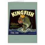 Vintage Product Can Label Art, Kingfish Asparagus