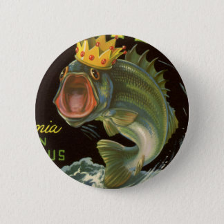 Vintage Product Can Label Art, Kingfish Asparagus Button