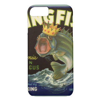 Vintage Product Can Label Art, Kingfish Asparagus iPhone 8/7 Case