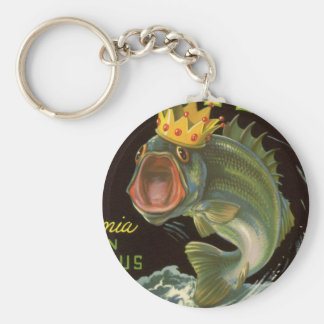 Vintage Product Can Label Art, Kingfish Asparagus Keychains