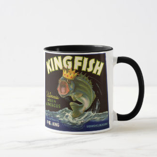 Vintage Product Can Label Art, Kingfish Asparagus Mug