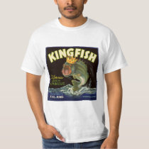 Vintage Product Can Label Art, Kingfish Asparagus T-Shirt