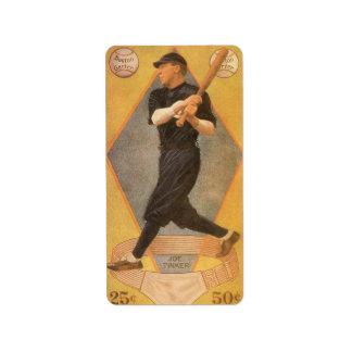 Vintage Product Label Art Baseball Card Joe Tinker