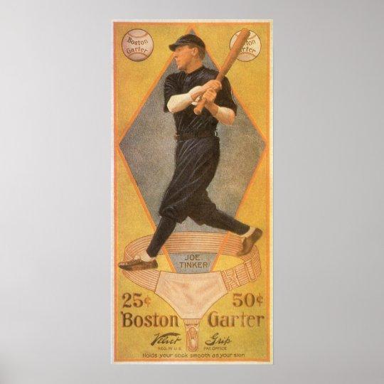 Vintage Product Label Art, Boston Garter for Socks Poster