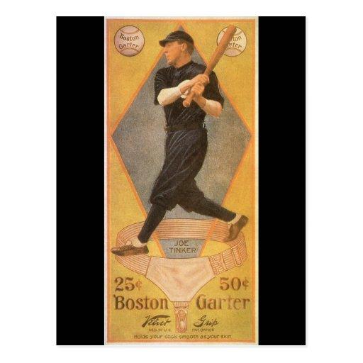 Vintage Product Label Art, Boston Garter Postcard