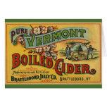 Vintage Product Label Art Brattleboro Boiled Cider Greeting Card
