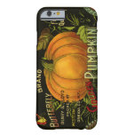 Vintage Product Label Art; Butterfly Brand Pumpkin Barely There iPhone 6 Case