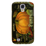 Vintage Product Label Art; Butterfly Brand Pumpkin Samsung Galaxy S4 Covers