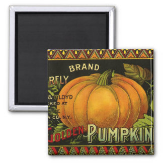 Vintage Product Label Art; Butterfly Brand Pumpkin Magnet