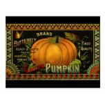 Vintage Product Label Art; Butterfly Brand Pumpkin Postcards