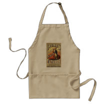 Vintage Product Label Art, Crumb's Pocket Inhaler Adult Apron