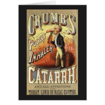 Vintage Product Label Art, Crumb's Pocket Inhaler Card