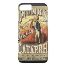 Vintage Product Label Art, Crumb's Pocket Inhaler iPhone 8/7 Case